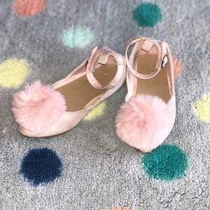 Toddler Shoes. Size 7 Pom Pom ballerina shoes